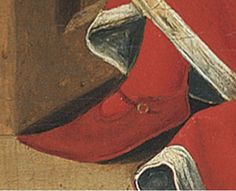Detail from St Mark the Evangelist by Gabriel Malasskircher. Held at Museo Thysson-Bornemisza, Madrid Garment of interest; Medieval Costume, Medieval Art, Medieval Fantasy, Elizabethan Clothing, Medieval Clothing, Historical Costume, Historical Clothing, 15th Century Dress, St Mark The Evangelist
