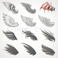 1000 Ideas About Wing Tattoos On Pinterest Angel Wing Tattoos Stylish tattoo designs and ideas