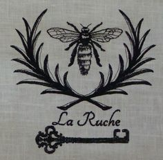 This single-color, bed-and-breakfast logo was digitized without using any automatic fill tools for an old-fashioned look, by Cathy Cattle of Seward, NE-based Sew B It Custom Embroidery.