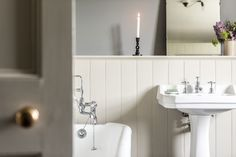 The Killiehuntly Farmhouse in the Cairngorms National Park, Scotland – Fawn Interior Design Hampshire, Surrey, Wiltshire Gray Interior, Interior And Exterior, Lodge Bathroom, Banks House, Cairngorms National Park, True Homes, White Cottage, Danish Design, Interior Design Inspiration
