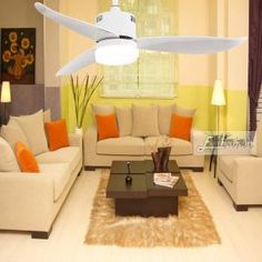 Proud EF48121 3bladeceilingfanwithlight and remote | Ceiling Fan Dc Ceiling Fan, 3 Blade Ceiling Fan, White Ceiling Fan, Modern Ceiling, Led, Indoor Outdoor, Remote, Bulb, Lights