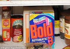 This Bold packaging was introduced in 1974 and was used until 2004. Hove, East Sussex.