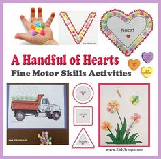 Welcome to Valentine's Weekwhere we'll be having fun strengthening our fine motor skills withValentine Conversation Hearts!