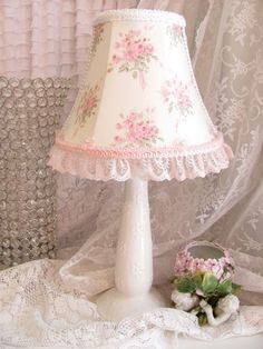 Sweet lamp and shade for # girls room or #nursery. Please note. Price shown is incorrect. Please contact for correct info at seedghill@yahoo.com