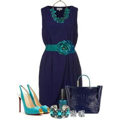Blue and teal