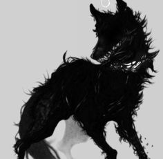 56 New Ideas Tattoo Wolf Girl Sweets Fantasy Creatures, Mythical Creatures, Dessin Old School, Shadow Wolf, Demon Wolf, Arte Obscura, Anime Wolf, Wolf Tattoos, Creature Design