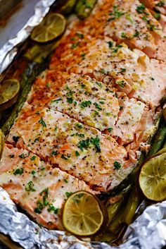 Buttery Garlic Lime Salmon with Asparagus in Foil is so easy to make with simple ingredients.  The flavor makes this salmon absolutely incredible and it comes out the oven perfectly tender and flaky! You guys know me and my salmon.  I am o b s e s s e d.  And since salmon can be …