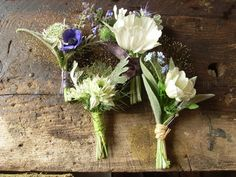 Free buttonholes from Cornish florist The Blue Carrot – naturally grown seasonal wedding flowers