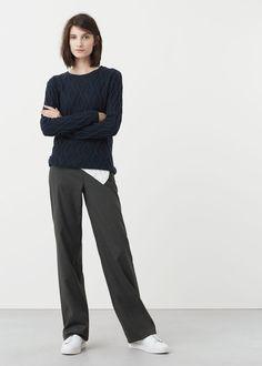 Strukturierter woll-mix-pullover -  Damen | MANGO Deutschland