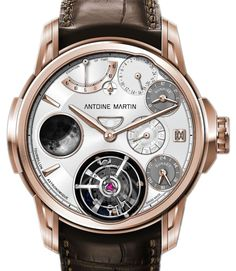 "Antoine Martin Tourbillon Astronomique Watch Is $565,000 - by David Bredan - See why on aBlogtoWatch.com ""The Tourbillon Astronomique is a very new concept that strives to be one of the most complex astronomical watches ever and, in fact, it is a piece on which the brand is still working day and night to completely finish for Baselworld 2014..."""