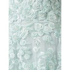 Zuhair Murad floral sequin embroidery gown (€5.060) ❤ liked on Polyvore featuring dresses, gowns, green evening dress, green sequin dress, floral gown, floral dresses and floral ball gown