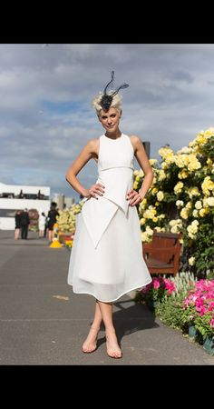 With a monochrome dress code for Derby Day, the Birdcage was overflowing with classic black and white fashion. Here's ELLE's edit of the best-dressed stars and race goers from the soirée on Saturday. Derby Day Fashion, Race Day Fashion, Races Fashion, Event Dresses, Day Dresses, Nice Dresses, Wedding Dresses, Lace Wedding, Melbourne Horse Racing