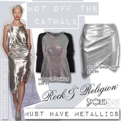 We just #LOVE #metallics! Our MIRANDA jumper and ALICIA skirt are bang on #trend for #SS14 and available at @spoiledbrat.co.uk   http://www.spoiledbrat.co.uk/rock-religion-m737