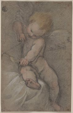 Federico Barocci, Cupid Drawing His Bow, c.1560s