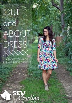Pattern // The Out and About Dress by Sew Caroline Sewing Clothes, Diy Clothes, Clothes For Women, Look Fashion, Diy Fashion, Clothing Patterns, Sewing Patterns, Women's Clothing, Make Your Own Dress