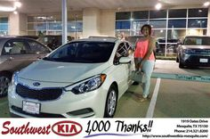 https://flic.kr/p/J9B6Dq | Happy Anniversary to Bria  on your #Kia #Forte from Ash Chowdhury at Southwest Kia Mesquite! | deliverymaxx.com/DealerReviews.aspx?DealerCode=VNDX
