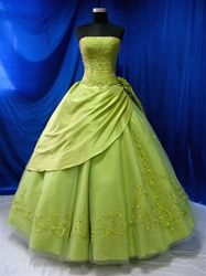 Green Wedding Dress- Ignore the color, what do you think of the shape and style?