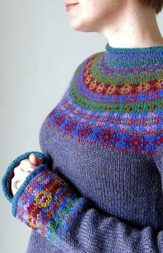 Ravelry: Kaleidoscope Pullover pattern by Cassie Castillo