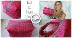 ideas diy makeup bag pattern zipper pouch for 2019 Makeup Bag Tutorials, Diy Makeup Bag, Makeup Pouch, Diy Bags Easy, Simple Bags, Diy Makeup Foundation, Makeup Bag Pattern, Diy Pouch Tutorial, Diy Wedding Makeup