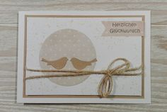 Glückwünsche - Glückwunschkarte Karte zur Hochzeit / Geburtstag - ein Designerstück von Kartenwald bei DaWanda