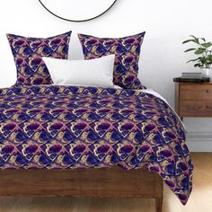 ASTROLOGY ZODIAC MARBLE 1 purple gold on Wyandotte by paysmage | Roostery Home Decor King Duvet, Queen Duvet, Duvet Cover Design, Astrology Zodiac, Purple Gold, Duvet Insert, Gold Leaf, King Size, Spoonflower