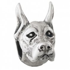 #GreatDane - Bark Beads, $79.95, 925 Sterling Silver, Compatible with Trollbeads, Pandora, and Chamilia bracelets, Hand-crafted in the USA, Available at ANDREW GALLAGHER JEWELERS, Newark, DE 302-368-3380