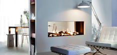 see-through fireplace 2sided fireplace linear fireplace contemporary fireplace