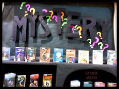 Mystery Books Display at the Lacey Timberland Library