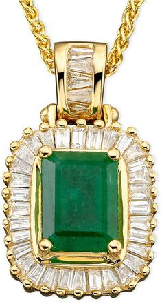 Effy Brasilica by Emerald ct.) and Diamond ct.) in Gold 14k Gold Jewelry, Emerald Jewelry, Fine Jewelry, Women Jewelry, Jewellery, Etsy Jewelry, Watch Necklace, Gold Coins, Green And Gold