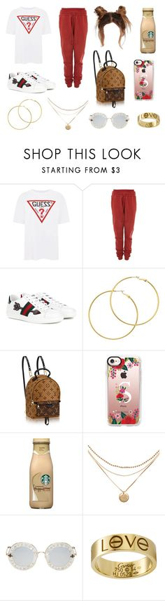 """""""Ivy Park"""" by harajukunights ❤ liked on Polyvore featuring GUESS, Ivy Park, Gucci, Melissa Odabash and Casetify"""
