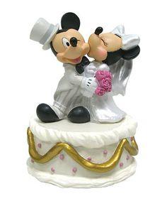 Look at this #zulilyfind! Mickey & Minnie Wedding Figurine #zulilyfinds