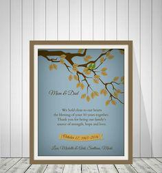 50th Wedding Anniversary Gift 50th GOLDEN by BeautifulPrint