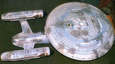 Battle-damaged Model of U.S.S. Enterprise NCC-1701 C from ST:TNG episode, Yesterday's Enterprise.