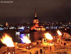 火熱的夜晚、火紅的仙女塔。  ©fuatkurt
