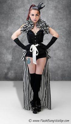 Gothic Steampunk Shrug Lolita Burlesque Goth  CIRQUE DU NUIT  By Aphrodites Folly. $35.00, via Etsy.