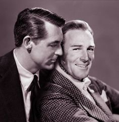 Cary Grant and Randolph Scott - They had a 12-year relationship; not many fans know that.