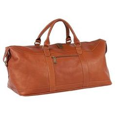 Nelson Leather Duffel in Saddle