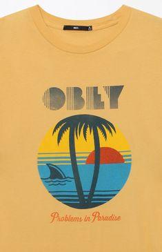 6456d73c5de0be Obey Problems In Paradise T-Shirt - LRG