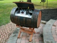 Here's another use for an old whiskey barrels! Could you use one?