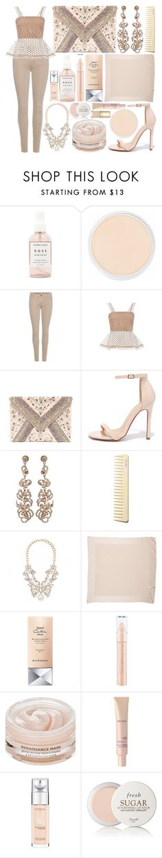"""""""Rose Gold 🐚🐚"""" by marianandrwos ❤ liked on Polyvore featuring Herbivore, Clinique, 7 For All Mankind, Alexis, LULUS, Liliana, Forever New, Louis Vuitton, Givenchy and Oskia"""