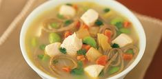 Gingery Chicken Noodle Soup from the Mayo Clinic