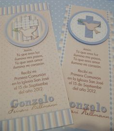 Estampas - Primera Comunion Confirmation Cards, Baptism Cards, Decoration Communion, Invitation Design, Invitations, Boys First Communion, Ideas Para Fiestas, Christening Gifts, Holidays And Events