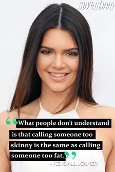 Even the most gorgeous celebrities have insecurities, too. These Seventeen cover stars share their empowering quotes about loving yourself no matter what! Celebrity Tattoos Women, Celebrity Bodies, Celebrity Quotes, Who Is Emma Watson, Emma Watson Quotes, Bullying Quotes, Feminism Quotes, Kendall Jenner Quotes, Girl Quotes