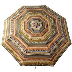 parapluie Bohemian Style pour pluie, Xagoo® Résistant au vent Voyage, robuste, portable et léger pour un transport facile (Jaune)