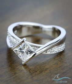 1.35 CT Bypass Style Princess Cut Diamond In 925 Siver Weding & Engagement Ring #aonejewels #princesscutdiamondsengagement