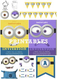 Kit minions gratuit anniversaire à imprimer Free printables minion Birthday Table, Birthday Board, 2nd Birthday Parties, Birthday Party Decorations, Boy Birthday, Birthday Ideas, Minion Theme, Minion Party, Movie Party