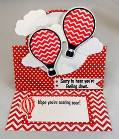 #The Stamps of Life, #TSOL #Hot4Balloons, #Sizzix Square Stand Up Card Die