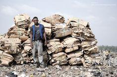 Mario Macilau, Life goes on (man with pile), 2009.