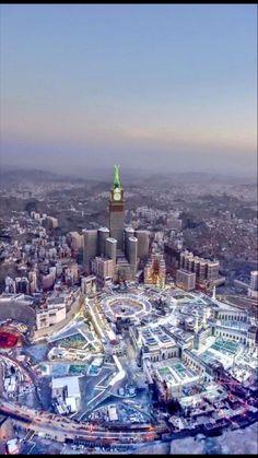 Mecca Madinah, Mecca Masjid, Masjid Al Haram, Mecca Hajj, Muslim Images, Islamic Images, Islamic Pictures, Islamic Architecture, Historical Architecture