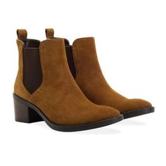Redfoot Victoria Tan Suede Chelsea Boots Gorgeous, tan suede chelsea boots inspired ankle boots with almond shaped toe. £68 Order yours > http://www.kindredsole.com/designers/redfoot-shoes/redfoot-victoria-tan-suede-chelsea-boots.html